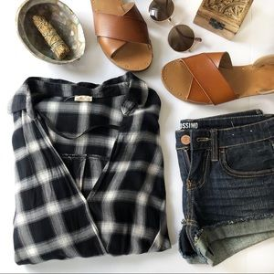 Hollister Wrap front Flannel shirt.